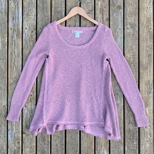 Kaisely Anthro Frayed Seam Sweater, Size S